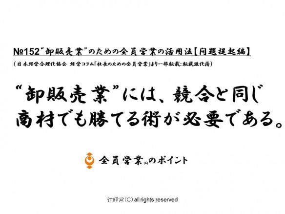 16052卸販売業のための全員営業の勝つ方法【問題提起編】№152